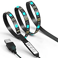 TV LED Light Strip JACKYLED 6.6Ft 60Leds LED TV Backlight Strip USB Bias Monitor Lighting RGB 5050 SMD Changing Color...