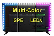 USB LED Lighting Strip for HDTV - Extra Large (158in / 4m) - Multi-Color RGB - USB LED Backlight Strip with Dimmer fo...