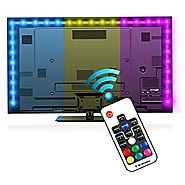 Bias Lighting for HDTV (78.7in / 2m) with Remote Control - EveShine Multi-Color RGB TV LED Backlight Strip Lighting K...