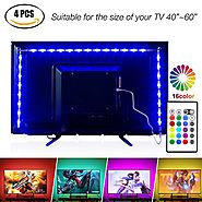 Led Strip Lights 6.56ft for 40-60in TV,Pangton Villa USB LED TV Backlight Kit with Remote - 16 Color 5050 Leds Bias L...