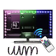 LED TV Backlight, EASTSHINE Bias Lighting Multi Color RGB Lights 78In 6.5Ft 60 Leds USB Powered Strip with RF Remote ...