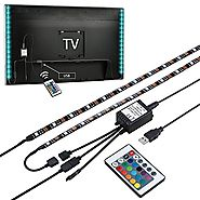 Mutiwin Bias Lighting for HDTV USB Powered TV Backlighting, Home Theater Accent lighting Kit With Remote Control,2 RG...