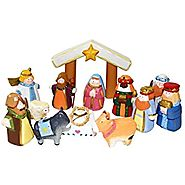 Kurt Adler 10.5-Inch Hand-Carved Child's 1st Nativity Set