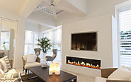 Flare Front Modern Frameless Fireplace | Linear Fireplace | Flare Fireplaces