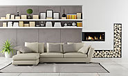Flare Left Corner Modern Fireplace | Linear Fireplace | Flare Fireplaces