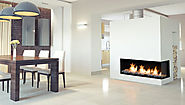 Flare Right Corner Modern Fireplace | Linear Fireplace | Flare Fireplaces
