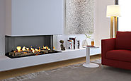 Flare Double Corner Fireplaces | Linear Fireplaces | Flare Fireplaces