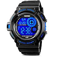 Aposon Men's Digital Sports Watch, Military Army Electronic Watches Running 50M 5 ATM Waterproof Sports LED Wristwatc...