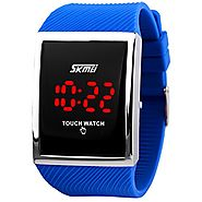 Kids Touch Screen Outdoor Blue Sports Watch with LED, Digital for Boys Girls - FIZILI