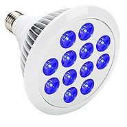 eSavebulbs 24W Blue LED Grow Light Bulb for Indoor Plants Flowers Veg Greenhouse Hydroponics Aquarium