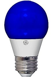 GE Lighting 92125 3-Watt LED 45-Lumen Party Light Bulb with Medium Base, Blue, 1-Pack