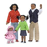 Melissa & Doug Victorian Doll Family - Black