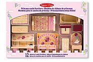 Melissa & Doug Princess Castle Wooden Dollhouse Furniture (12 pcs)