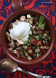 Spiced Lentils with Yogurt, Almonds and Mint