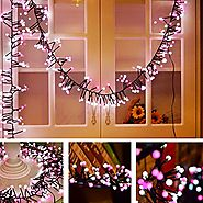 Color String Lights Indoor Firecracker decorative Wedding Patio Backyard Cafe Bedroom Festival Atmosphere Waterproof ...
