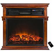 "AKDY® 29"" Adjustable Setting Freestanding Tempered Glass Electric Fireplace Heater w/ Remote Control"