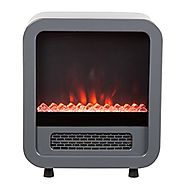 Fire Sense 61449 Skyline Electric Fireplace Stove, Silver