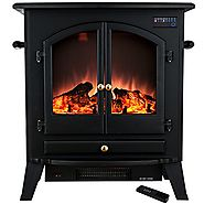 "Golden Vantage 25"" 1500W Freestanding Portable Adjustable Insert Electric Fireplace Stove Heater 5200 BTU w/ Remote"