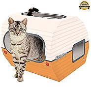 No 1 Rated – Cat Toys & Playhouse- Best Indoor Cardboard Cat House & Toy – Now with Corrugated Scratcher Loun...