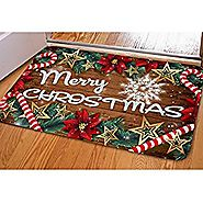 HUGSIDEA Merry Christmas Doormat Welcome Door Mat Rug Indoor/Outdoor Mats Decor Rug for Home/Office/Bedroom