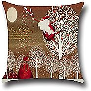 "NEW BARLEY Christmas Sofa Bed Home Decor Pillow Case Cushion Cover 18""x18""(Style 07)"