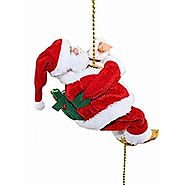 Musical Climbing Santa Christmas Decoration