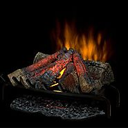 Dimplex DLG1058 Open Hearth Fireplace Insert with Faux Logs Bed, Black