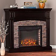 Southern Enterprises Grantham Corner Electric Fireplace