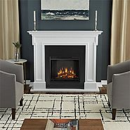 Real Flame 5010E-W Thayer Electric Fireplace, White
