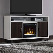 Stanley Electric Fireplace Media Console in White - 18MM6072-PT85S