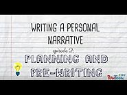 Writing a Personal Narrative: Planning & Pre-Writing a Story for Kids