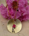 Initial Charm Necklace in Brass | Suzanna McMahan | Upcycled Vintage Jewelry