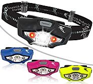 Headlamp by SmarterLife | Super Bright & Light Headlamps | CREE LED with 6 Light Modes | Water Resistant Headlight fo...
