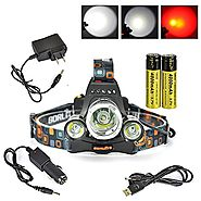 Boruit Headlamp with Red Light - Hunting Red Headlight- Red Backlight – Rechargeable & 3 Mode- Perfect Night Vision H...