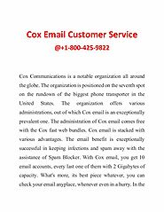 Get Technicians Help for Cox Email issue with Cox Email Customer Service