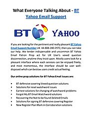 Get Assistance of yahoo email issue with BT Yahoo Support UK @44-808-280-2972