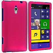Hot Pink Hard Rubberized Case Cover for HTC 8XT :: Cell Phone Cases