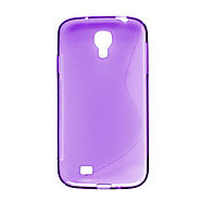 Samsung Galaxy S4 i9500 - Skin Case Tpu Transparent S Shape Purple 505 :: Samsung Galaxy S4 Cases
