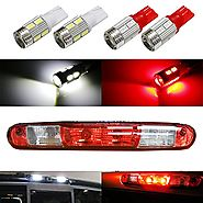 iJDMTOY (4) High Power 10-SMD 921 912 920 168 T10 LED Replacement Bulbs For Chevrolet Ford GMC Honda Nissan Toyota Tr...