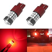 Alla Lighting 39-SMD High Power 2835 Chipsets Xtremely Super Bright 7443 7440 T20 Red LED Bulbs for Brake Tail Light