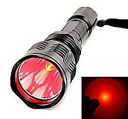 Z-Z@ Super Bright Waterproof HS-802 350 Lumens Cree LED Flashlight 250 Yard Long Range Hunting Light Cree LED Coyote ...