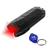 Nitecore Tube RL USB Rechargeable Red LED Keychain Light plus LumenTac LED Keychain Flashlight, Astronomy StarGazing,...
