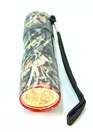 WOODLAND CAMO 9-LED Flashlight - RED LED