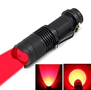 JOYLIT Red light 620nm Mini Focus Tactical Cree XP-E Waterproof Led Flashlight lantern Cree Q5 Chip