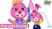 Kids Animation | Five little bunnies | Animated Rhymes | (Repeat Loop) - KidsOne