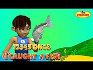 kids Rhymes: 12345 Once I Caught A Fish Alive! 3D Nursery Rhymes with Lyrics The Numbers Song - KidsOne