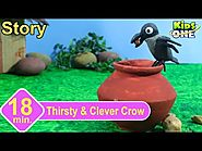 Thirsty & Clever Crow Story Panchatantra Stories for Children 3d Animated English Stories
