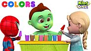 Learn COLORS with Ice Cream Choco BAR | Baby Hulk Teach Colors to Baby Spider, Baby Frozen