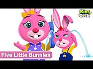 Kids Animation Five little bunnies Animated Rhymes (Repeat Loop)