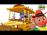 Wheels On the Wooden Bus Jungle Safari with Animals Nursery Rhymes for Kids by KIDSONE